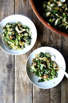 Bok Choy Salad with Sesame Almond Crunch