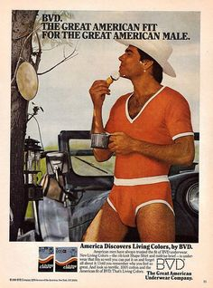 An original 1980 advertisement featuring this handsome American cowboy shaving…