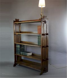 Oak Arts And Crafts Pegged Bookcase C1900 - Antiques Atlas
