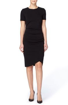 Main Image - Catherine Catherine Malandrino 'Esmond' Side Ruched Tulip Sheath Dress
