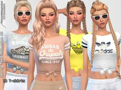 Clothing: Sporty Tees Collection 05 by Pinkzombiecupcakes from The Sims Resource • Sims 4 Downloads