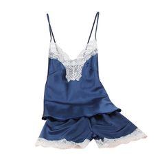 Mulheres de Cetim Sleepwear Conjunto Camisola Camisola Sexy Lingerie de Seda Cinta de Espaguete Roupa de Dormir