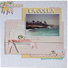 travel, scrapbook layout, page, pastels, vacation, traditional