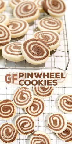 These classic gluten free pinwheel cookies have a place on every holiday cookie plate. If you've wanted to give them a try but had trouble imagining how, this quick how-to video is just the thing! Gluten Free Deserts, Gluten Free Cookie Recipes, Gluten Free Treats, Gluten Free Cookies, Gluten Free Baking, Paleo Baking, Gf Recipes, Baking Recipes, Gluten Free Christmas Recipes