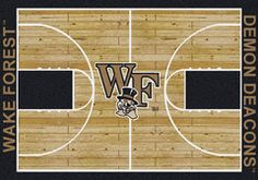 Wake Forest Demon Deacons - College Home Court Rug