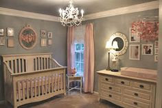 This baby girl nursery is lovely as can be and Mom isn't finished!  There's more to come! The mom that decorated this sweet baby girl nursery says that things are beginning to come together in the room. If what we see in the nursery pictures
