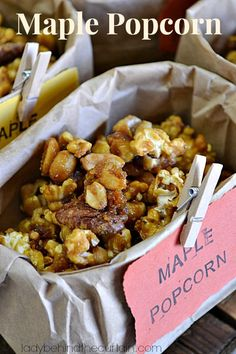 Whether it's game day, a rustic wedding reception or a gift to take to a friends. This delicious maple popcorn will fit right in. Perfect for ANY occasion.