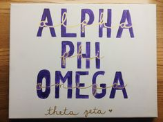 by emily perry Sigma Alpha Omega, Phi Delta Theta, Phi Sigma Sigma, Alpha Omicron Pi, Alpha Chi, Phi Mu, Chi Omega, Greek Crafts, Sorority Crafts