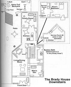 1000 images about brady on pinterest the brady bunch for Brady bunch floor plan