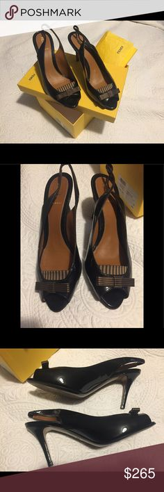 Fendi patent leather black heels Gorgeous and timeless Fendi heels. Like NEW. I am also selling the nude version. These are patent leather and in excellent condition. Purchased from Nordstrom. I only have one box, so depending on which color sells first, I'll ship that pair in the box. I have other shoe protectors that I'll ship them in if the nude sells first. Ask any questions. Fendi Shoes Heels