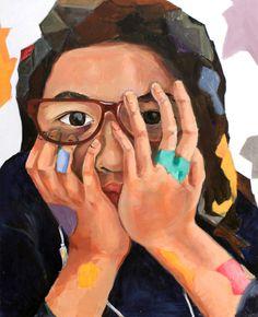 Riley Yuen 14, Blocked Out - Gold Key Winner, NY Scholastic Art & Writing Awards 2015