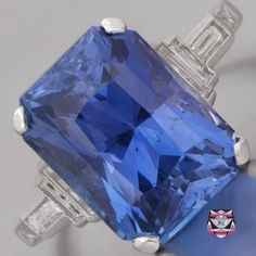 Certified Unheated Sapphire Engagement Ring