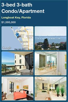 3-bed 3-bath Condo/Apartment in Longboat Key, Florida ►$1,595,000 #PropertyForSale #RealEstate #Florida http://florida-magic.com/properties/7516-condo-apartment-for-sale-in-longboat-key-florida-with-3-bedroom-3-bathroom