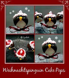'Weihnachtspinguin Cake Pops'