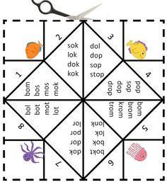 Vouwdobbelsteen met de letter o Digibord Onderbouw