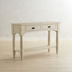 Magnolia Home Taper Turned White Console Table