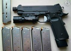 Sig Sauer 1911 Tacops TB with VZ Operator Grips. Weapons Guns, Guns And Ammo, Tactical Knives, Tactical Gear, 1911 Pistol, 1911 Grips, Military Guns, Sig Sauer, Cool Guns