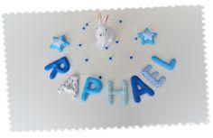 Guirlande prénom personnalisée en tissu et feutrine : Décoration pour enfants par le-petit-bonheur
