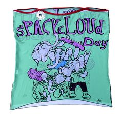sPACYcLOUd Day dress  Designed, printed, and sewn in DC Comics by Johnny McHone