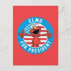 Postal Elmo para presidente - Bandera | Zazzle.com Elmo, Presidents, Paper Envelopes, Impressionism