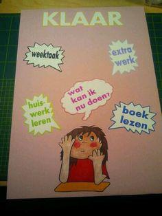 Gelukt! Mijn eerste poster voor in de klas.
