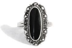 Onyx Ring Silver Boho Vintage by Tezsahcom https://www.etsy.com/listing/465316264/onyx-ring-silver-boho-vintage?ref=rss