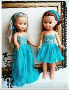 Vestidos de inspiración para muñeca Nancy clásica, foto de Anialegra.