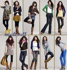 Ideas for what to wear during a photo shoot. Solid colors always works best! Layers are good too.
