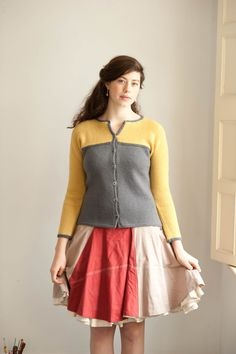 Cute cardigan from Quince & Co.