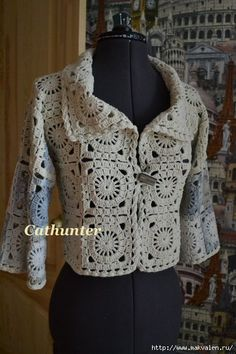 Square motif jacket {free chart for this motif}