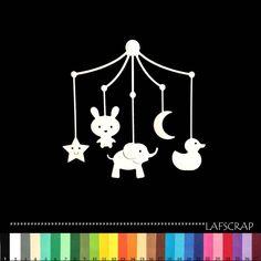 1 découpe scrapbooking mobile bébé naissance lune étoile canard animaux découpe papier embellissement die cut déco