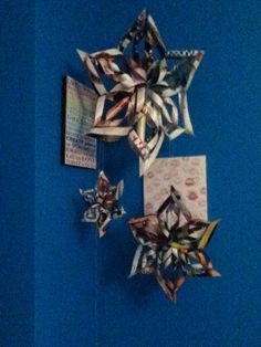DIY Paper stars/snowflakes! Great DIY room decoration for girls, Tweens or teens! Simply take a sheet of paper of your choice, choose how big you want