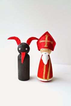 Plenty of Paprika: Hungarian Christmas Traditions: St. Nicholas & Krampus Peg Dolls