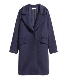 Mantel aus Wollmix   Dunkelblau   Damen   H&M DE