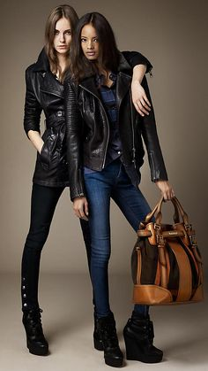 Burberry Brit Autumn/Winter 2012. Leather jackets FTW.