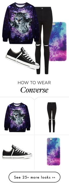 """Untitled #175"" by manon-one-direction1806 on Polyvore featuring Converse"