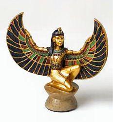 Egyptische prinses Isis - polystone beeld