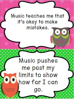 I Give a HOOT About Music: Advocacy Month and a New Bulletin Board