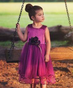 Plum Evangeline Dress - Infant, Toddler & Girls