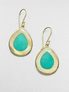 IPPOLITA - Mint Chrysoprase, Mother-of-Pearl and 14K Yellow Gold Earrings - Saks.com