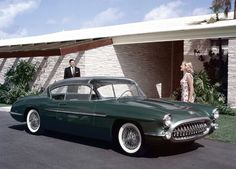 """1956 Chevrolet Corvette Impala XP-101 Concept - """"The 1956 Corvette Impala was the embodiment of what a Corvette as a five-passenger sports car could have been. This fiberglass show car designed by Bob Cadaret (who worked on the new 1956 Corvette's design) and Carl Renner had a 225 horsepower Super Turbo-Fire V8 engine. http://www.heacockclassic.com/articles/corvette-concepts-and-prototypes/"""