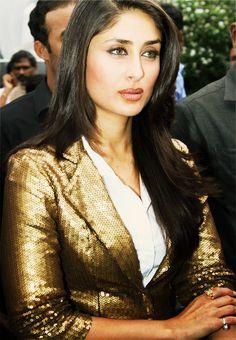 Kareena & Her Gold Sequined Blazer = SWAG