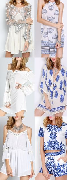 So sweat and so lovely! Dreaming white & blue boho dress, Love absolutely!