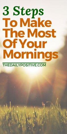 Even if you're not a morning person, there are a few things you can do to set the tone for a productive and positive day. These three steps are easy and SO worth it!