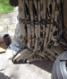 To puddle or fan?  Client opted for fan #bespoke #curtains #stripeinteriors