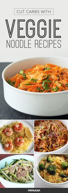 Swapping out noodles for veggies is an easy technique that cuts carbs and brings more nutrition to your plate. Whether you prefer zucchini, spaghetti squash, carrots, or even cauliflower, there's a veggie-filled recipe on this list that you'll enjoy.