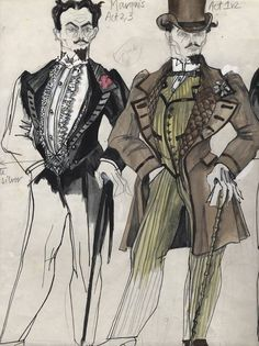 Maria Bjornson - Phantom of the Opera Broadway Costumes, Theatre Costumes, Cool Costumes, Drama Stage, Costume Design Sketch, Colleen Atwood, Fashion Sketches, Fashion Illustrations, The Little Prince