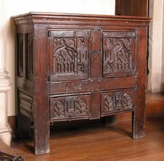 oak cupboard. Great Chalfield Manor © National Trust / David Cousins