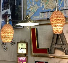 Pair of Rattan Vintage Swags  New Wiring  $280  Mid Century Dallas Booth #766  Lula B's in the OC! 1982 Ft. Worth Ave. Dallas, TX 75208