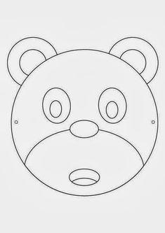 Coloring For Kids, Coloring Books, Printable Masks, Quiet Book Patterns, Paper Crowns, Honey Bear, Art For Kids, Safari, Stencils